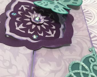 Gorgeous One Of A Kind   All Occassion Purple and Teal Greeting Card