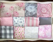 Reserved for Mui Pink & Grey Patchwork and Minky Blanket
