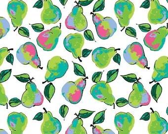 White Berkshire Pears - Berkshire Garden - Lila Tueller for Riley Blake Fabrics C6842-White