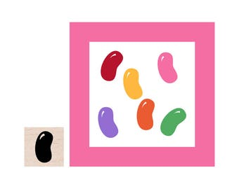 Mini Jelly Bean Rubber Stamp