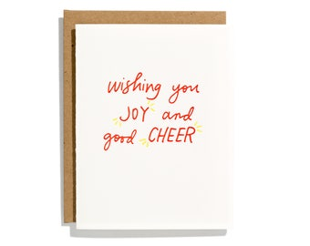 Wishing You Joy - Letterpress Holiday Card - CH232