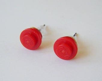 Earrings Lego Red ♥ ♥ ♥