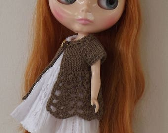 BLYTHE CARDIGAN/TOP, Blythe outfit, Blythe clothes, Blythe crochet top/blythe knitwear