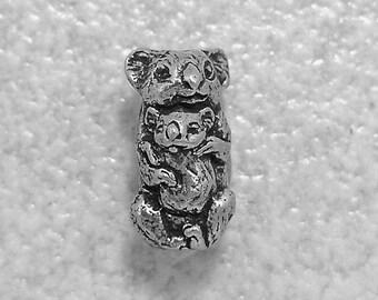 Green Girl Studios Koala Bear Pewter Bead