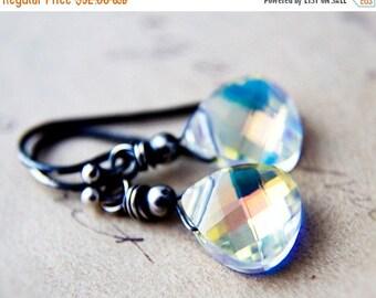 Crystal Earrings, Drop Earrings, Swarovski Crystal, Rainbow Prism, Sterling Silver, Dangle Earrings, Bridesmaid Gift, Wedding Jewelry