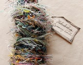 Miss Rosemary mint violet blue pink mix tassel tinsel striped twine Novelty Fiber Yarn Sampler Bundle