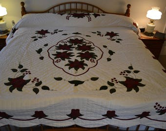 Amish Celtic Rose Queen/King quilt