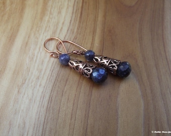 Ancient Days Copper & Spectralite Earrings