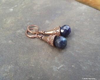 Ancient Days Copper & Spectralite Earrings II