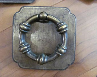 Extra Large Drawer Pulls, Handles, Set 3 Round with Square base