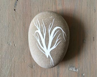 RESERVED - Painted Stone - Letter V - Initial - Hand Lettering - by Natasha Newton