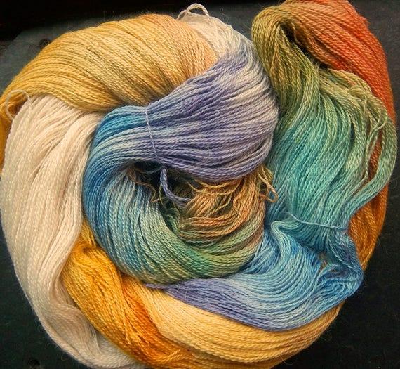 Alpaca Silk Lace 2ply Yarn Imbolc Spring Dreams Elvincraft Hand Painted