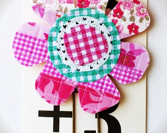 Extra Large Scrappy Flower Planner Clip
