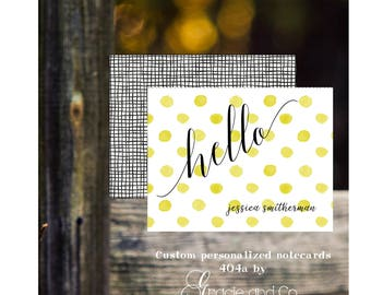 Custom personalized notecards robin blue gold black bridal party bridesmaids birthday stationery girly cards notes monogram hostess gift