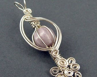 SALE - The Caged Bird's Song Pendant  - Wire Wrapping Tutorial