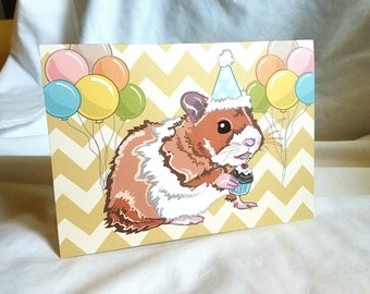 Party Hamster Greeting Card