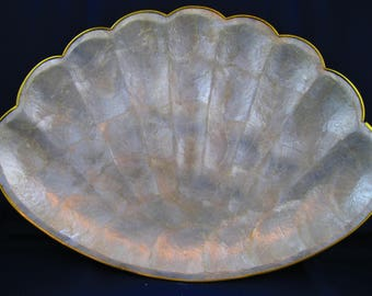 PAIR of Capiz Shell Trays