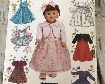 "Simplicity Pattern 4364 18"" Doll Clothes Elaine Heigl Design Uncut"