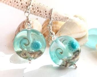 Glass Wave Earrings