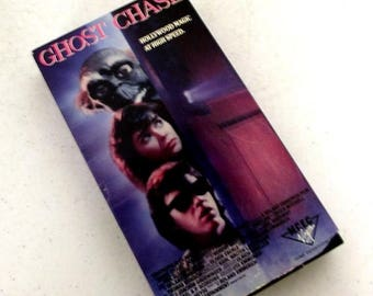 Vintage Ghost Chase - VHS movie - about teenage filmmakers and a ghost - retro FAMILY movie