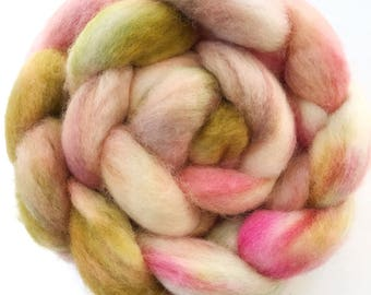 "BFL wool top, dyed, 'Bloom""', 4.0 oz."