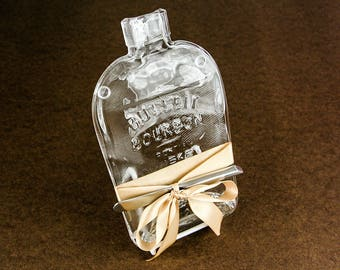 Bulliet Bourbon Upcycled Melted Bottle Cheese Plate or Wall Hanging by Mitchell Glassworks