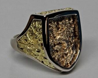 Mans Scottish Rampant Lion Ring, size 10 1/2