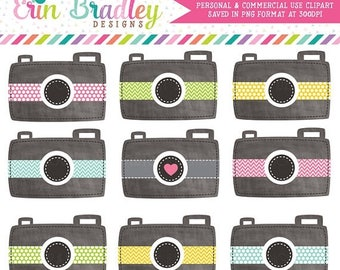 50% OFF SALE Camera Clipart Chalkboard Texture Photography Graphics