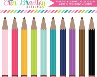 80% OFF SALE Pencils Clipart Clip Art for Personal and Commercial Use