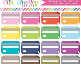 80% OFF SALE Credit Card Clipart Graphics Budgeting Clip Art Personal & Commercial Use