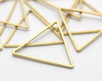 24mm Triangle Charm, 50 Raw Brass Triangles (24x24x24mm) Bs-1125