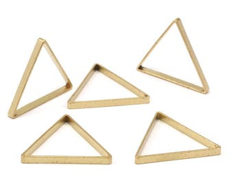 Cutout Triangle Charm, 12 Raw Brass Triangles (27x27x27x2.5mm) Brc 138 N563