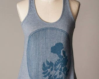 SUMMER SALE women's tank top, soft blue tank top, comfortable athletic wear, athleisure wear