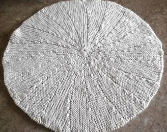 Buy Bonnie's - Off White Fine Texture Cotton Thread Round Hand Knit Single Strand Dish Cloth @ cyicrochet
