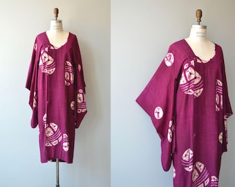 Shibori silk michiyuki | vintage 1950s silk jacket | japanese silk dress