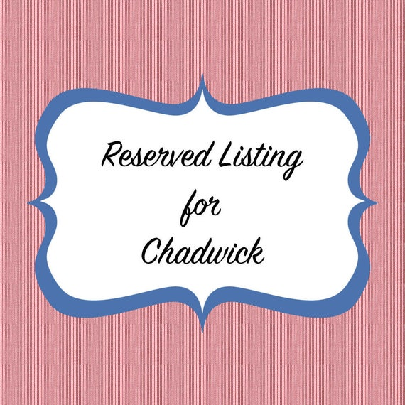Reserved Listing for Chadwick - Bowties