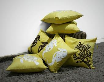 Nautical, Throw Pillow Cover, Pillow Set of 2. Coastal Decor, Nautical Pillows, Beach Decor, Embroidery Cushion, Pillow Case, Cottage Decor