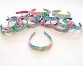 "Preppy 1"" Medium Lilly Pulitzer Fabric Headband in Many Prints"