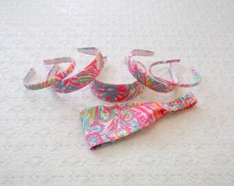 Swish Fish Lilly Pulitzer Fabric Headband in 6 Sizes