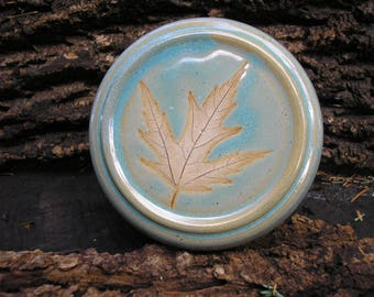 Silver Maple Leaf French Butter Keeper, keeps butter FRESH, butter crock, butter jar, butter dish