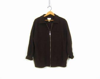 Vintage brown sweater cardigan | Etsy