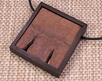 Butterfly-Cut Black Walnut with Brass