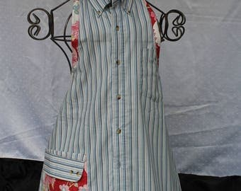 Stripes and Flowers Apron
