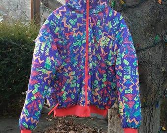 Vintage 1990s Columbia Reversible Ski Jacket