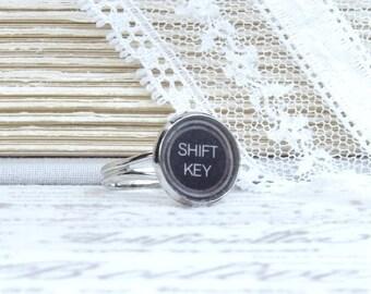 Shift Key Ring Writer Gift Typewriter Key Ring Shift Key Jewelry Author Gift Typewriter Key Jewelry