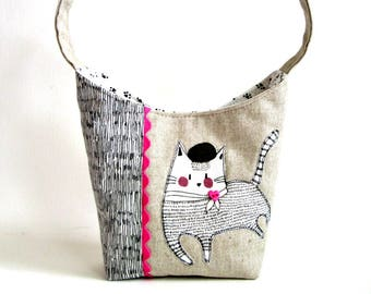 cat purse, kitten handbag