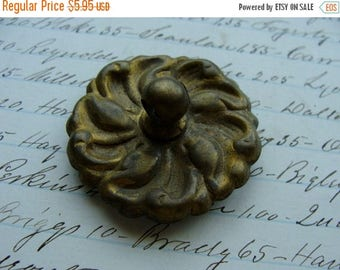 ON SALE Antique Hardware Salvaged Plate 1 3/8 perfect for vintage jewelry supplies