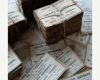 ONSALE Pharmacy and  Drug Co. Labels Antique 1900s