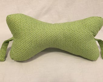 Dog Bone Neck Pillow-- Lime Green