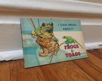 Toads and Frogs 1979 Vintage Book Paperback Children's Library